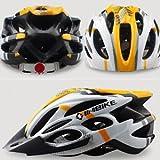 Dealzone New Inbike Cycling BMX Bicycle Hero Bike Helmet with Visor Yellow XS