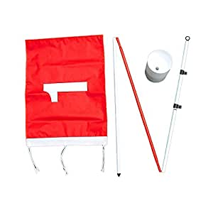 Backyard Flagstick Steel Pole and Golf Cup