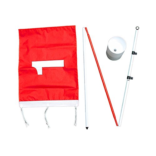 Green Flags Golf - ProActive Sports Backyard Flagstick Steel Pole and Golf Cup