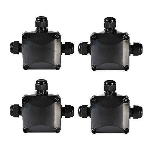 ATPWONZ IP68 Waterproof Electrical Junction Box 3-Way PG11 Underground Cable Connectors Ø 5.5-10.2mm (Pack of 4)