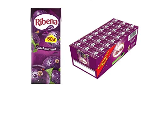 Ribena Blackcurrant Flavour Cartons Furit Juice 250ml Pack Of 24 Cartons