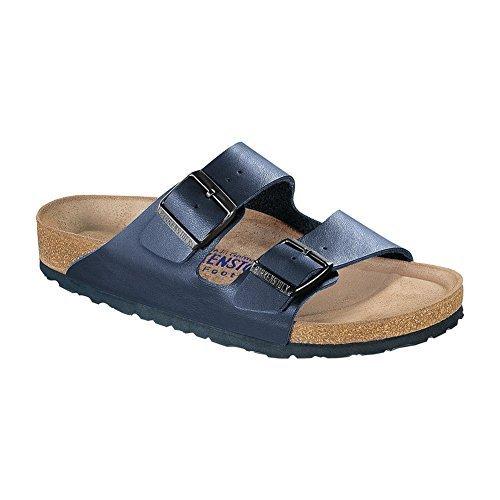 Birkenstock Arizona Navy Birko-Flor Soft Footbed Sandal 35 R (US Women's ()