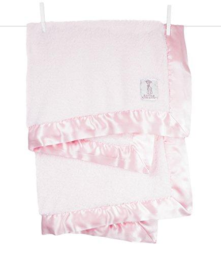 Little Giraffe Chenille Stroller Baby Blanket, Pink, 29' x 35'