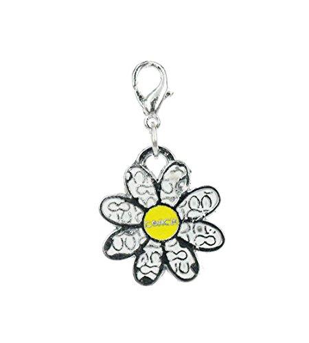 Charm fleur blanche par Charming Charms