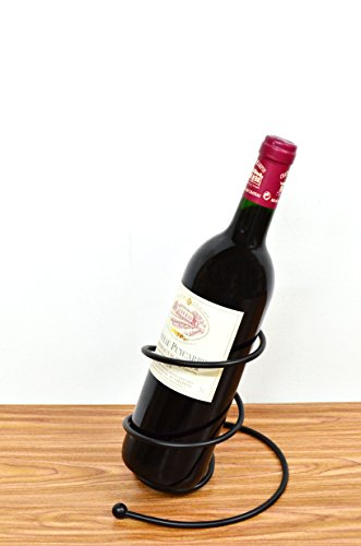 Superiore Livello Milano Single Bottle Countertop Wine Holder, Free Standing Metal Wine (Wine Bottle Stand)