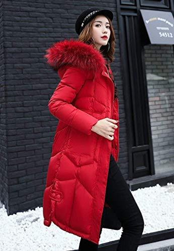 De Warm Fourrure Femme avec Oversize Hiver Qualit Parker Manteau Capuchon Haute Doudoune xqfSwRH
