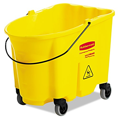 Rubbermaid Commercial RCP 7570-88 YEL WaveBrake Bucket, 8.75 gal, Yellow ()