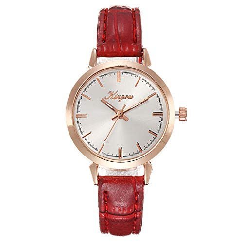 (LUCAMORE Women Wrist Watch,Ladies Fashion Quartz Wrist Watches with Comfortable Leather Strap)