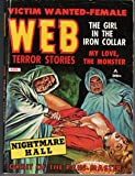 img - for Web Terror Stories - August, 1962. BDSM Theme Cover, stories and Illustrations. Bondage, Branding. Early John Jakes Pulp Story,