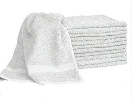 1 docena de pelo blanco/toalla de baño 20 x 40 100% algodón al