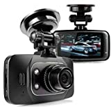 Car DVR, CARQIMA Hd 1080P G-sensor Super Night Vision Loop Record Black