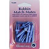 Hemline H137 | Plastic Bobbin Match Mates | Pack Of 12