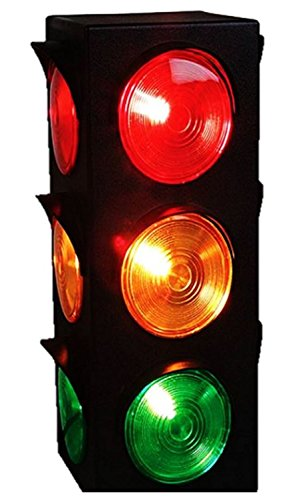 - JEWELS FASHION Traffic Light Lamp - Plug-in, Blinking Triple Sided, 12.25 Inch-for Kids Bedrooms, Decorations, Parties, Celebrations, Prop, & Gift and More