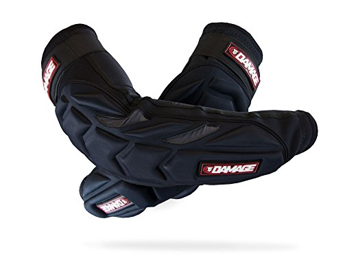 Virtue Paintball Men's TB Damage Elbow Pad, Black/Red, Large/X-Large
