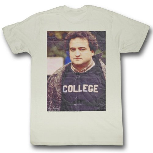 shirt White Homme T Vintage Jusqu'à House Animal Plié vqRw0wE