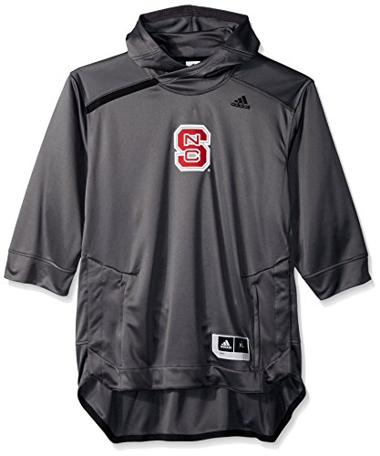 Center Court Short Sleeve Top - adidas NCAA North Carolina State Wolfpack Mens Iced Out S/Hooded Shootericed Out S/Hooded Shooter, Gray, X-Large