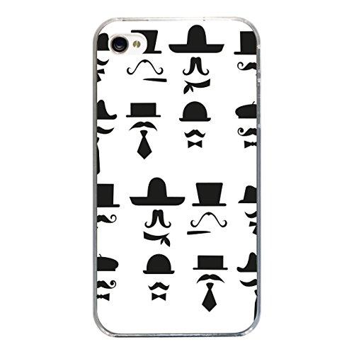 """Disagu Design Case Coque pour Apple iPhone 4 Housse etui coque pochette """"Black Moustache"""""""