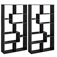 Deals on 2-Pack Mainstays Home 8-Shelf Bookcase