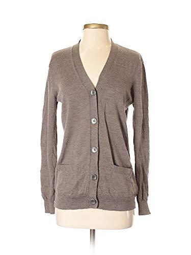 Kirkland Signature Women 100% Extra Fine Merino Wool Cardigan! (Brown, Medium)