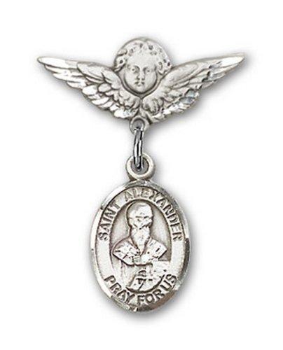 Icecarats Créatrice De Bijoux En Argent Sterling St. Alexandre Sauli Charme Ange Pin Badge 7/8 X 3/4