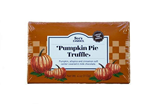 (4oz See's Candies Pumpkin Pie Truffle Chocolate Candy, Pack of 1)