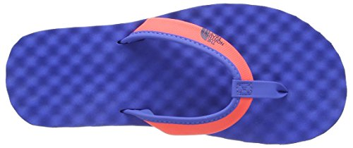 The North Face Damen Base Camp Mini Sandalen Blau - Bleu (Tropical Coral/Dunkel Blue)