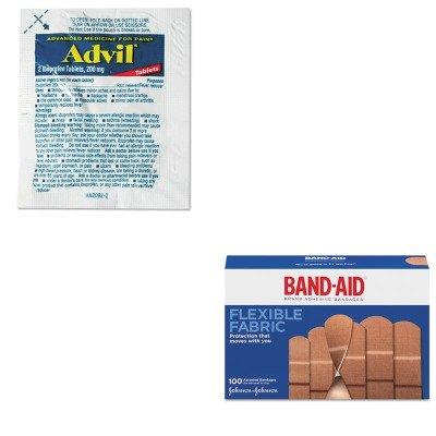 KITJOJ4444LIL58030 - Value Kit - Advil Single-Dose Ibuprofen Tablets Refill Packs (LIL58030) and Band-aid Flexible Fabric Adhesive Bandages (JOJ4444)