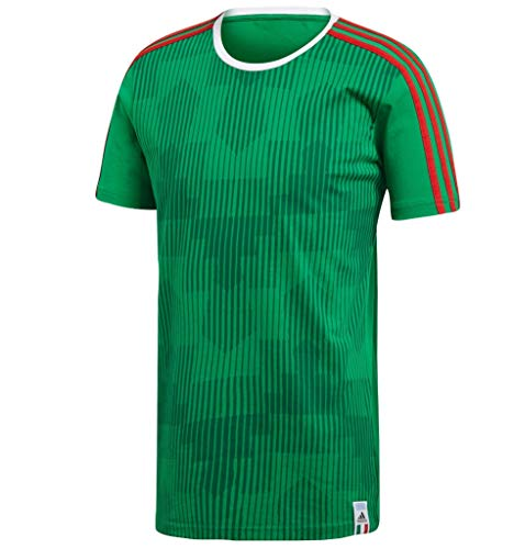 - adidas World Cup Soccer Mexico Men's 3 Stripes Tee, Medium, Green