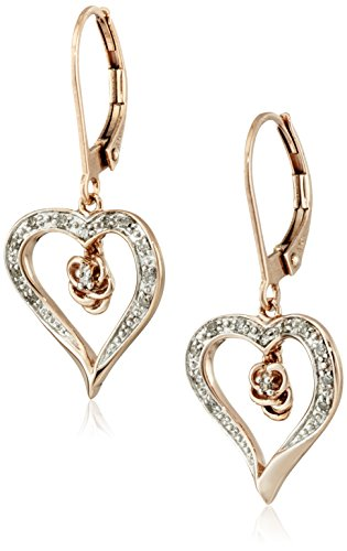 Prices for Diamond Heart Leverback Earrings - 1