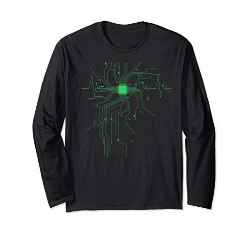 Computer CPU Heartbeat Programming Coding Long Sleeve Shirt (Best Cpu For Programming)