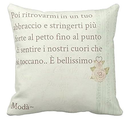 Cuscino Personalizzato 40x40 Frase D Amore Moda Modà Kekko