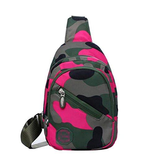 Moda Unisex Bolsa A Prueba De Recorrido Al Aire Libre De Camuflaje Hombro Inclinado Agua Accidental En El Pecho Bolsas Multicolor Pink