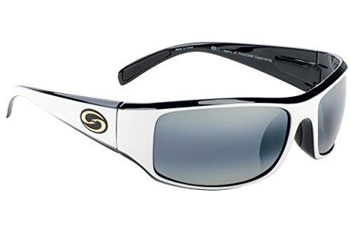 86119a3e326 Details about Strike King S11 Optics Full Frame Polarized Sunglasses  (White-Black Two