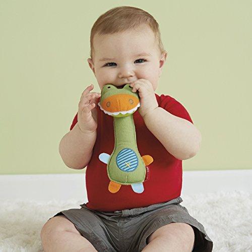 Skip Hop Giraffe Safari Squeeze Me Rattle Toy, Crocodile