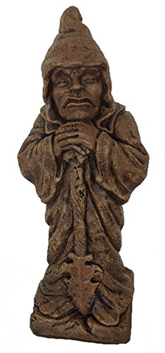(Massarelli's Guardian with Spear Solid Cast Stone Statue - Great Home and Garden Gift Idea - Durable, Lifelike Sculpture of Man with Sword - Gothic Medieval Art)