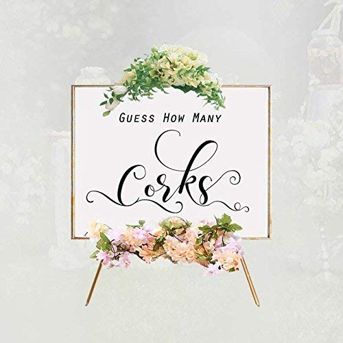 Amazon Com Elegant Quotes Guess How Many Corks Sign Bridal Shower