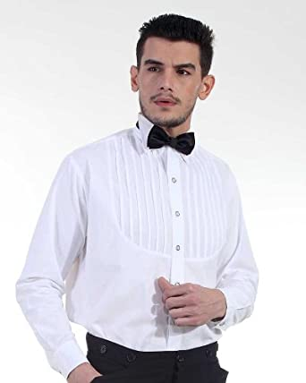 Victorian Men's Shirts- Wingtip, Gambler, Bib, Collarless Steampunk Victorian Costume Classic Victorian Mens Shirt $39.00 AT vintagedancer.com