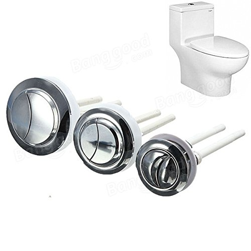 Toilet Flush Button (CPT Store ABS Double Dual Flush Toilet Water Tank Push Button,2 Rods,48mm)