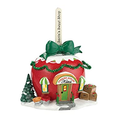 Department 56 North Pole Series Village Katie's Candied Apples Lit House, 5.2-Inch
