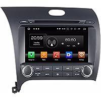 Glyqxa Android 8.0 Octa Core 8 Car DVD Car Raido GPS for Kia CERATO K3 FORTE 2013 2014 2015 With Radio 4GB RAM Bluetooth 4G WIFI USB Mirror-link