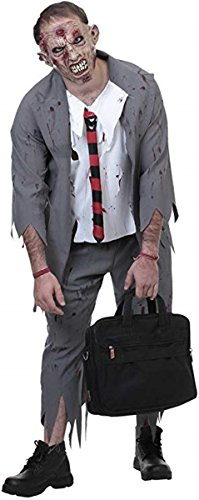 Zombie Business Man Horror Adult Halloween Costume, Medium