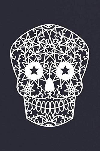 Notes: A Blank Guitar Tab Music Notebook with White Papercut Sugar Skull Cover Art