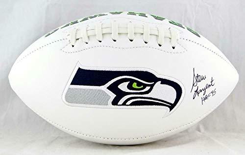 (Steve Largent Autographed Football - Logo HOF Beckett Auth - Beckett Authentication - Autographed Footballs)