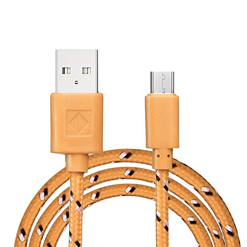 Hot Sale!UMFun 3M Standard Interface Micro USB Charger Cable Charging Cord (Orange)