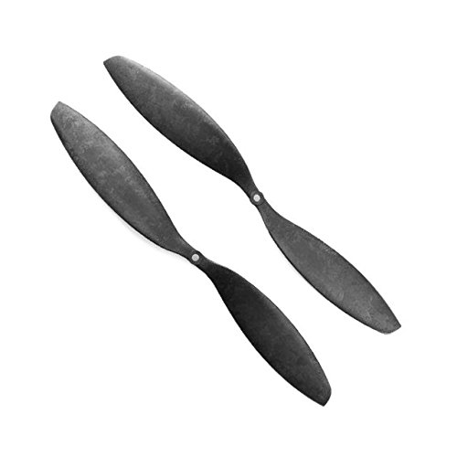 Genuine Gemfan 1447 (14x4.7) Propellers by RAYCorp. 2 Pieces(1CW, 1CCW) Black - Carbon Nylon 14-inch Quadcopters & Mutlirotors Props + RAYCorp Battery Strap