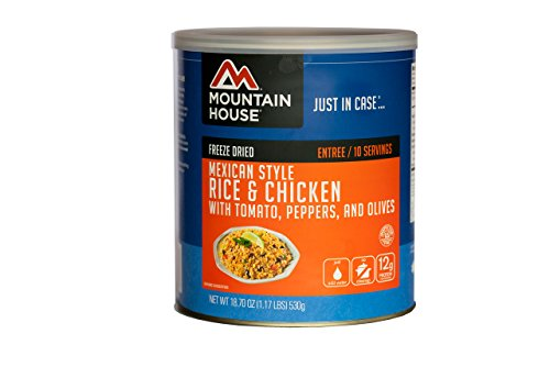 Mountain House Mexican Style Rice & Chicken #10 (Freeze Dried Diced)