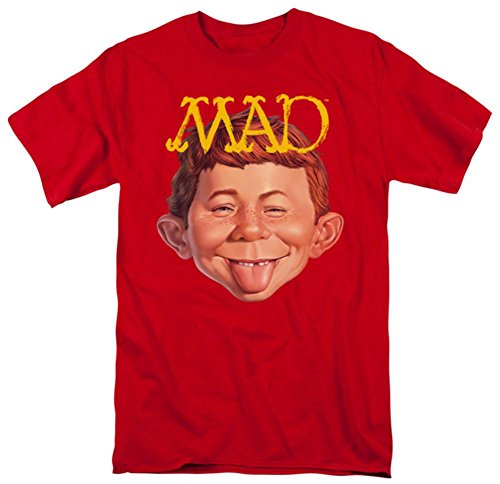 Trevco Men's Magazine Absolutely Mad T-Shirt, Red, Medium (Magazine Red Direct)