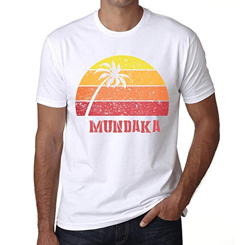 (Men's Vintage Tee Shirt Graphic T Shirt Mundaka Sunset White)