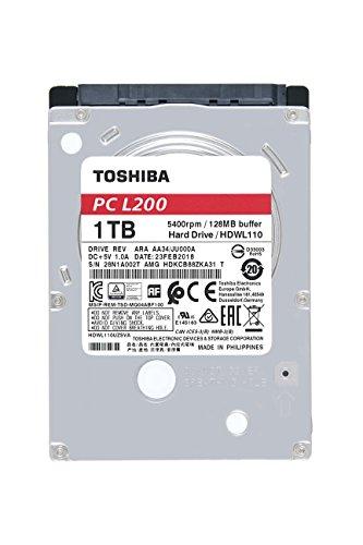 Toshiba HDWL110XZSTA L200 1TB Laptop PC Internal Hard Drive 5400 RPM SATA 6Gb/s 128 MB Cache 2.5 inch 7.0mm Height by Toshiba (Image #1)