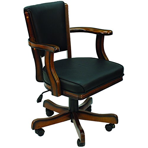 Cushioned Game Table Arm Chair Finish: Chestnut